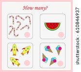 mathematics task. how many... | Shutterstock .eps vector #610846937