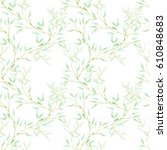 seamless floral pattern with... | Shutterstock . vector #610848683