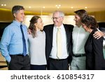 smiling senior business leader... | Shutterstock . vector #610854317