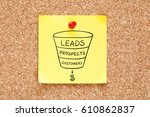 sales funnel business concept... | Shutterstock . vector #610862837
