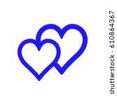 heart icon vector | Shutterstock .eps vector #610864367
