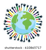 conception of unity and support ...   Shutterstock .eps vector #610865717