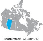 map canada vector | Shutterstock .eps vector #610884047