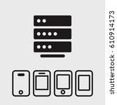 server icon | Shutterstock .eps vector #610914173