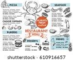 restaurant cafe menu | Shutterstock .eps vector #610916657