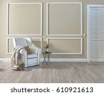 empty room classic decoration... | Shutterstock . vector #610921613