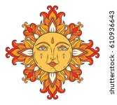 vintage ornamental illustration.... | Shutterstock .eps vector #610936643