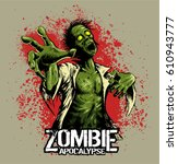 Comic Book Style Zombie With...
