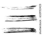 set of ink vector brush strokes.... | Shutterstock .eps vector #610952423