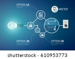 option and solution composition ... | Shutterstock .eps vector #610953773
