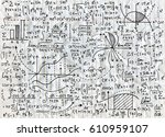 math education vector pattern... | Shutterstock .eps vector #610959107