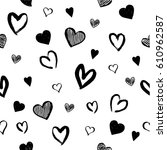 seamless black and white hand... | Shutterstock .eps vector #610962587