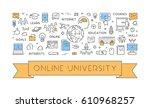 line concept for online... | Shutterstock . vector #610968257