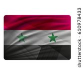 national flag of syria in... | Shutterstock .eps vector #610978433