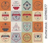 set of baseball labels  logos ... | Shutterstock .eps vector #610980377