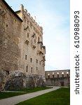 castello del buonconsiglio ... | Shutterstock . vector #610988093