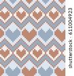 pixel hearts  geometric... | Shutterstock .eps vector #611004923