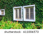 view of a closed window and of... | Shutterstock . vector #611006573