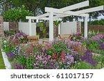 a contemporary garden with... | Shutterstock . vector #611017157