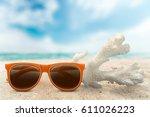beach. | Shutterstock . vector #611026223
