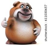 Fun Bulldog   3d Illustration