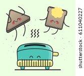 vector illustration of happy...   Shutterstock .eps vector #611040227