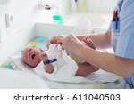 the first day at the hospital | Shutterstock . vector #611040503