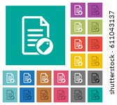 tagging document multi colored... | Shutterstock .eps vector #611043137