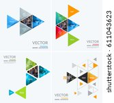 business vector design elements ... | Shutterstock .eps vector #611043623