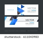 abstract business vector set of ... | Shutterstock .eps vector #611043983
