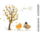 romantic autumnal date under ... | Shutterstock .eps vector #61104685