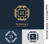 modern logo design. geometric... | Shutterstock .eps vector #611060993