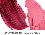 purple and pink lipstick smudges | Shutterstock . vector #611067017