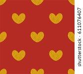 tile vector pattern with golden ... | Shutterstock .eps vector #611076407