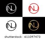 nu text logo | Shutterstock .eps vector #611097473