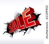 """sale"" inscription break... | Shutterstock .eps vector #61109902"