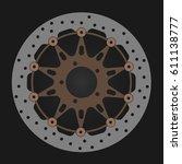 bikes brake disc isolated on...   Shutterstock .eps vector #611138777