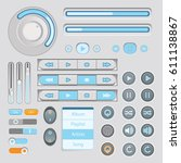 user interface light gray and...