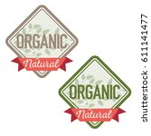 organic natural product labels... | Shutterstock .eps vector #611141477