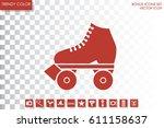 vector illustration of roller...   Shutterstock .eps vector #611158637