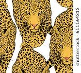 illustration of leopard ...   Shutterstock . vector #611164313