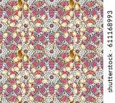 seamless oriental ornament in... | Shutterstock .eps vector #611168993