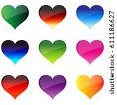love heart. | Shutterstock .eps vector #611186627