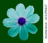mosaic background   flower. ... | Shutterstock .eps vector #611190617