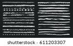 set of vector grunge brushes.... | Shutterstock .eps vector #611203307