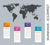 world map pointer marks icon...   Shutterstock .eps vector #611204027