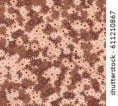 seamless pattern with small... | Shutterstock .eps vector #611210867