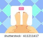 illustration of pregnant female ...   Shutterstock .eps vector #611211617