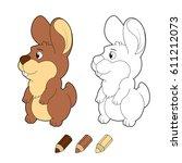 cartoon bunny. illustration...   Shutterstock . vector #611212073