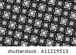 ornament with elements of black ... | Shutterstock . vector #611219513